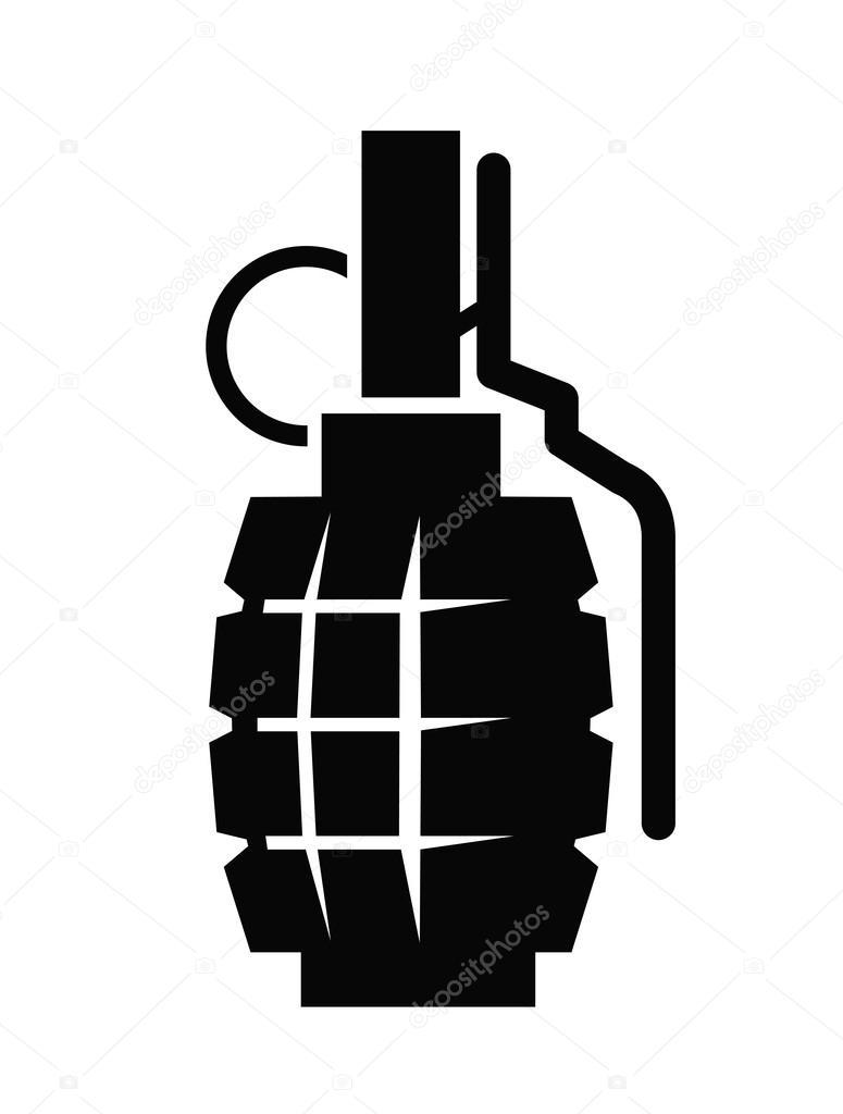 hand grenade stock vector bioraven 58488599 rh depositphotos com German Hand Grenade French Hand Grenades