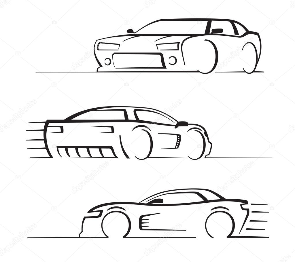 sistema de auto negro — Vector de stock © bioraven #65357185