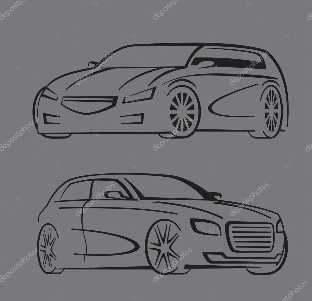 sistema de auto negro — Archivo Imágenes Vectoriales © bioraven ...