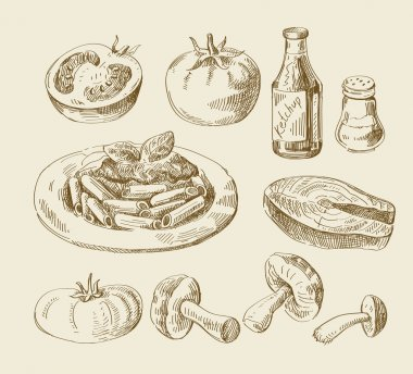 hand drawn food sketch