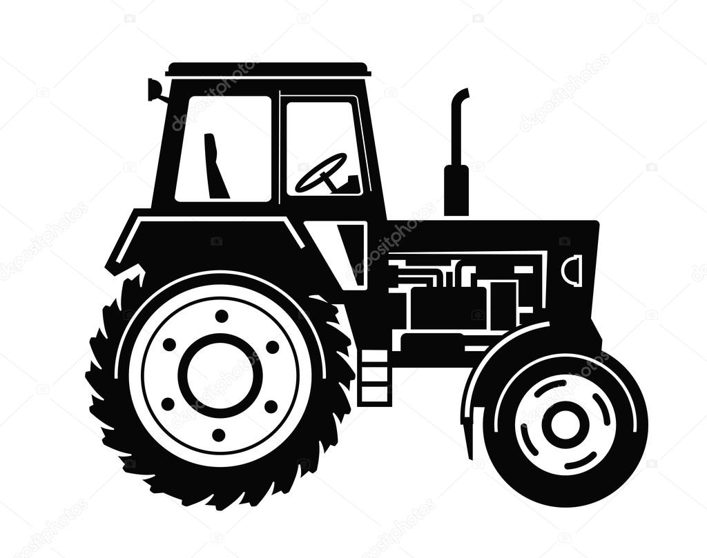 Muddy Tractor Clip Art : Traktor ikona — stock vektor bioraven