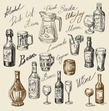 hand drawn beverages sketch