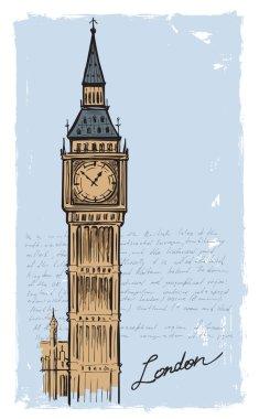 hand drawn Big Ben