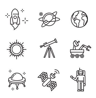 flat astronomy icons