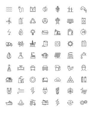 flat energy icons