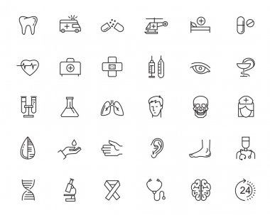 flat healthcare icons