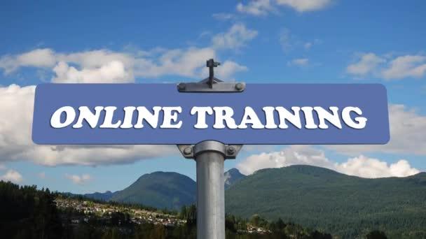 online képzés útjelzési áramló felhők