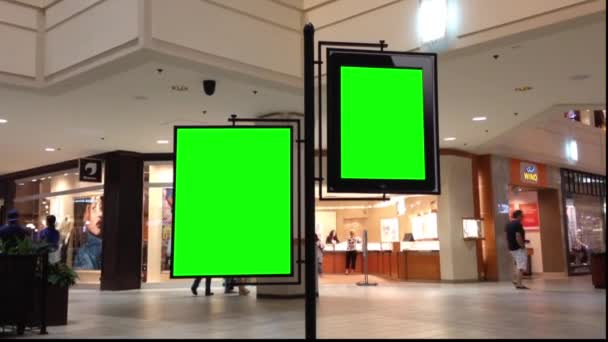 zelený billboard pro vaši reklamu uvnitř nákupního centra coquitlam