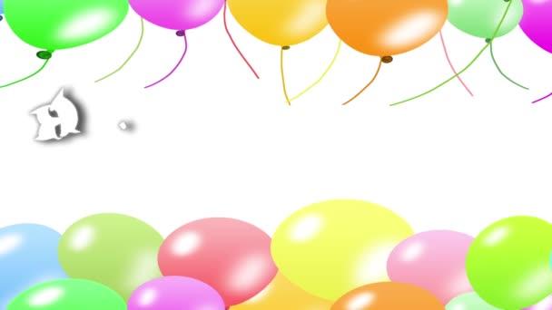 Všechno nejlepší k narozeninám s pozadím balon