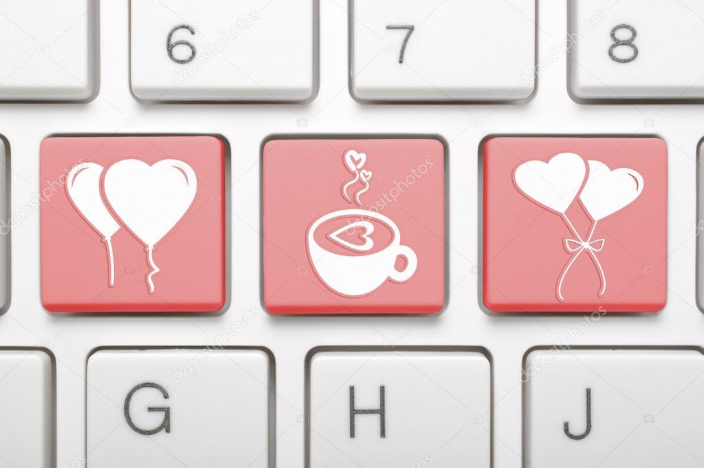 Love Symbol Key On Keyboard Stock Photo Payphoto 63542737