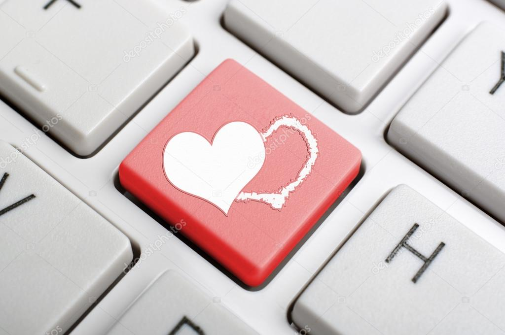 Valentine Symbol On Keyboard Stock Photo Payphoto 63542745