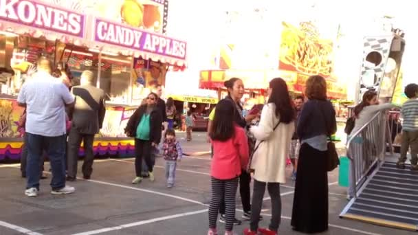 Candy apples booth at the West Coast Amusements Carnival