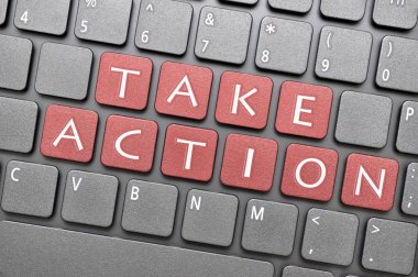 Take action key on keyboard
