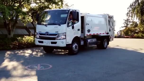 Garbage truck meghajtók gyűjtésére szemetet a Queens park