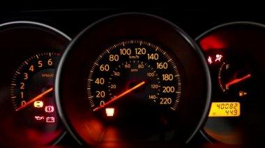 Storing Of Motor Auto Symbolen Controleren Stockvideo C Vlad Star