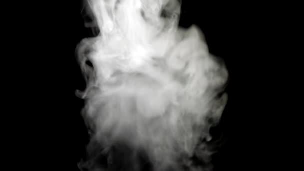 Slow motion smoke on a black background
