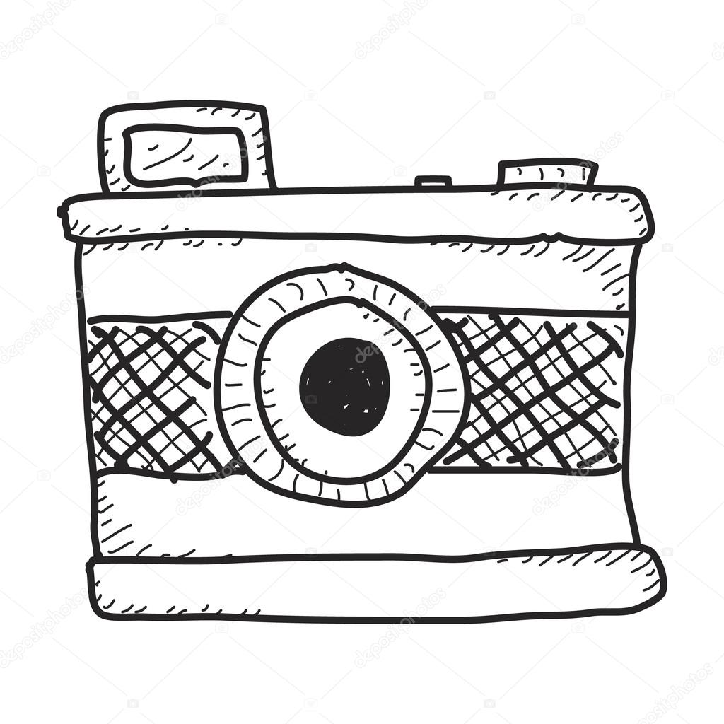 Simple Hand Drawn Doodle Of A Camera Vector By Chrishall