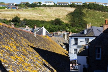 View down the old streets on Port Issac