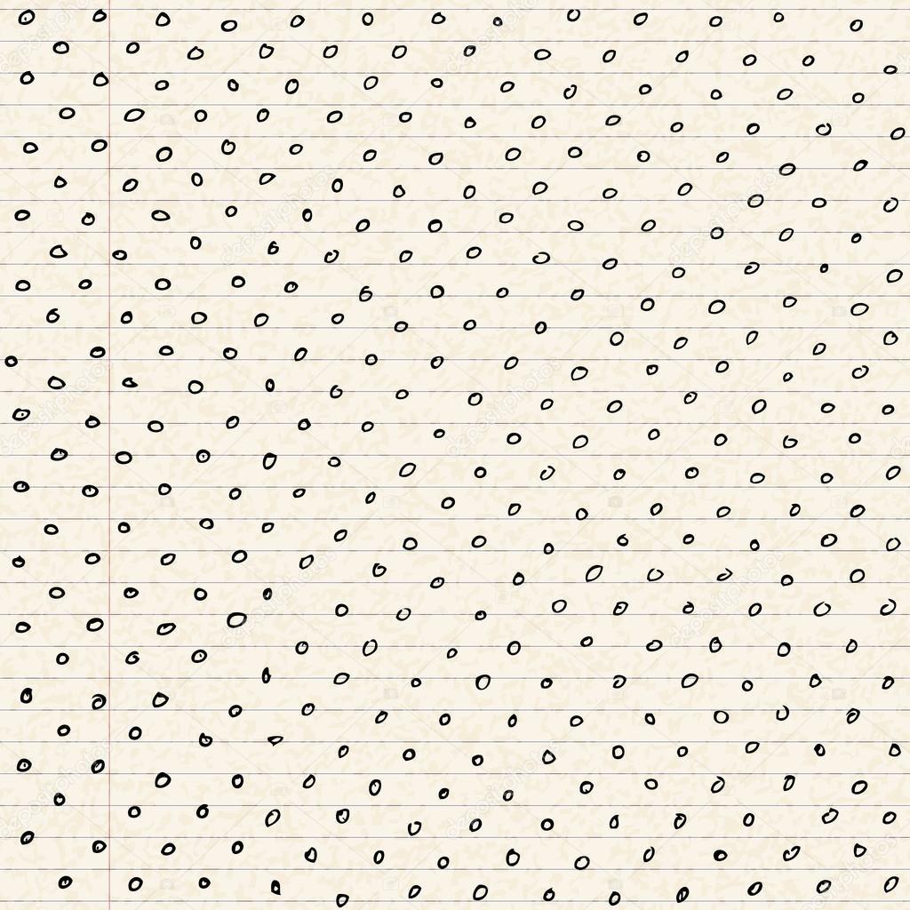 Punkten auf einem Blatt Liniertes Papier — Stockvektor © chrishall ...