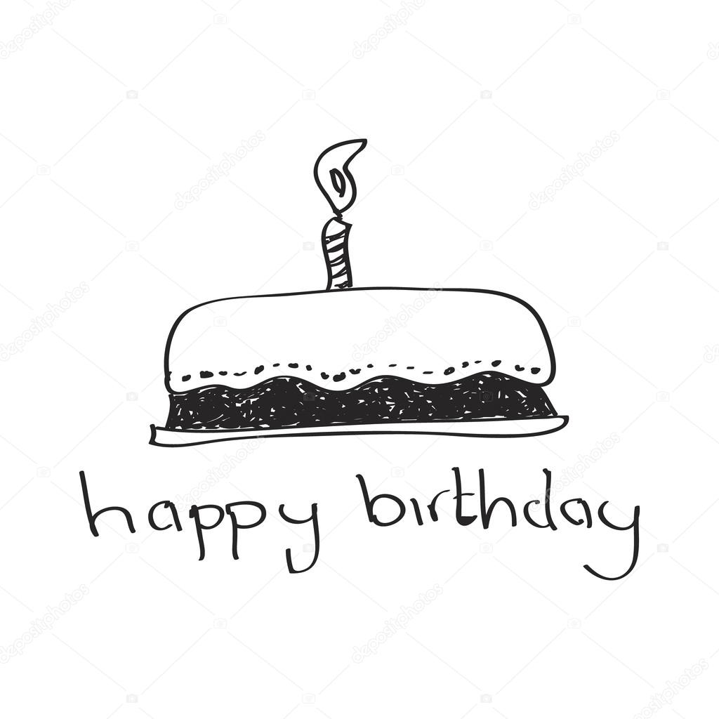 Simple doodle of a birthday cake Stock Vector chrishall 81901722