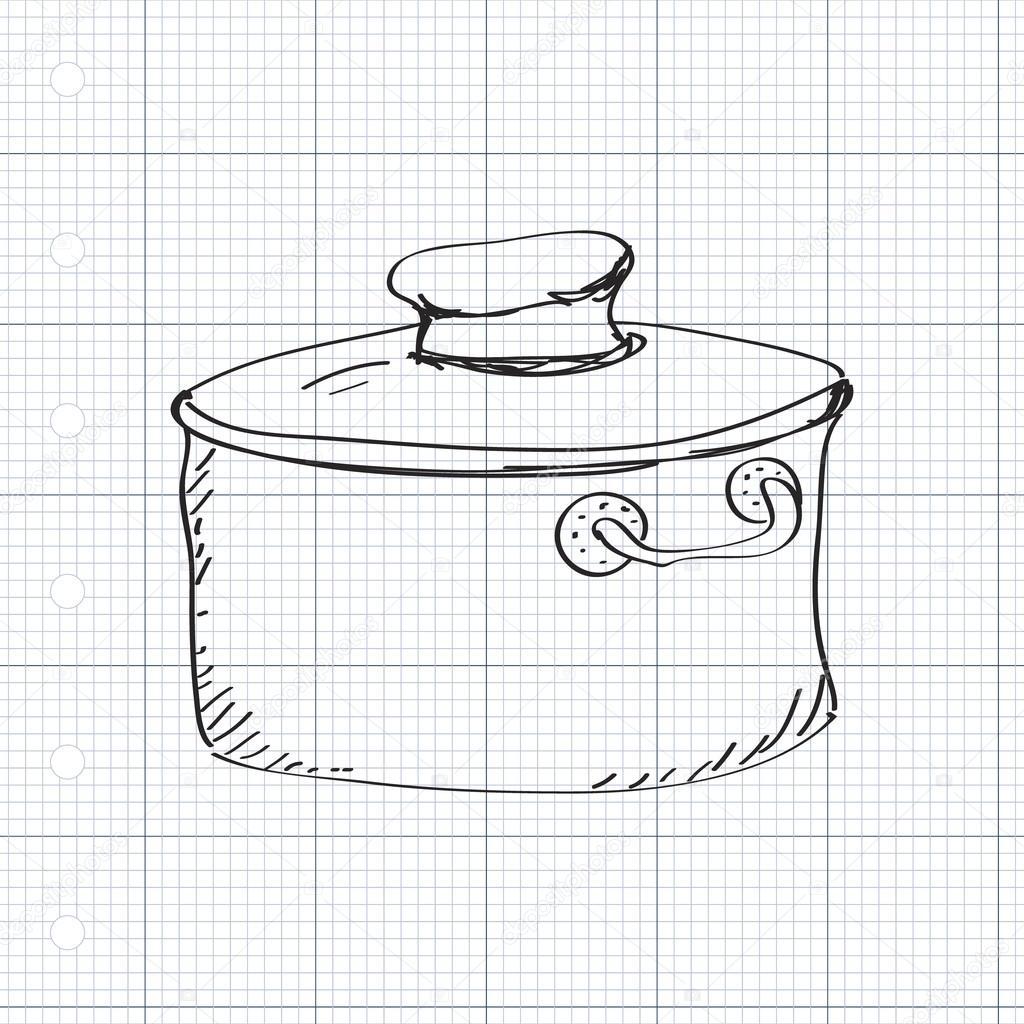 Картинки кастрюль и как их рисовать