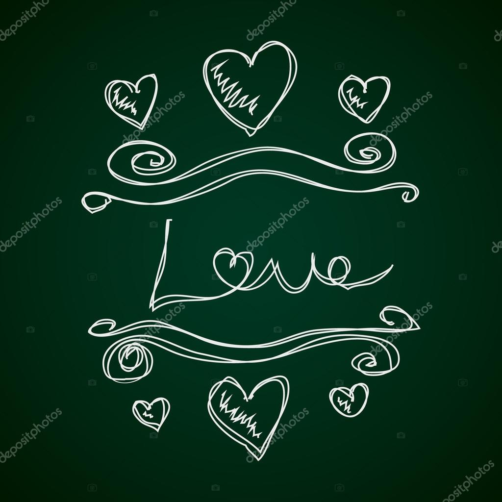 Doodle Simple Dun Dessin De Coeur Amour Image Vectorielle