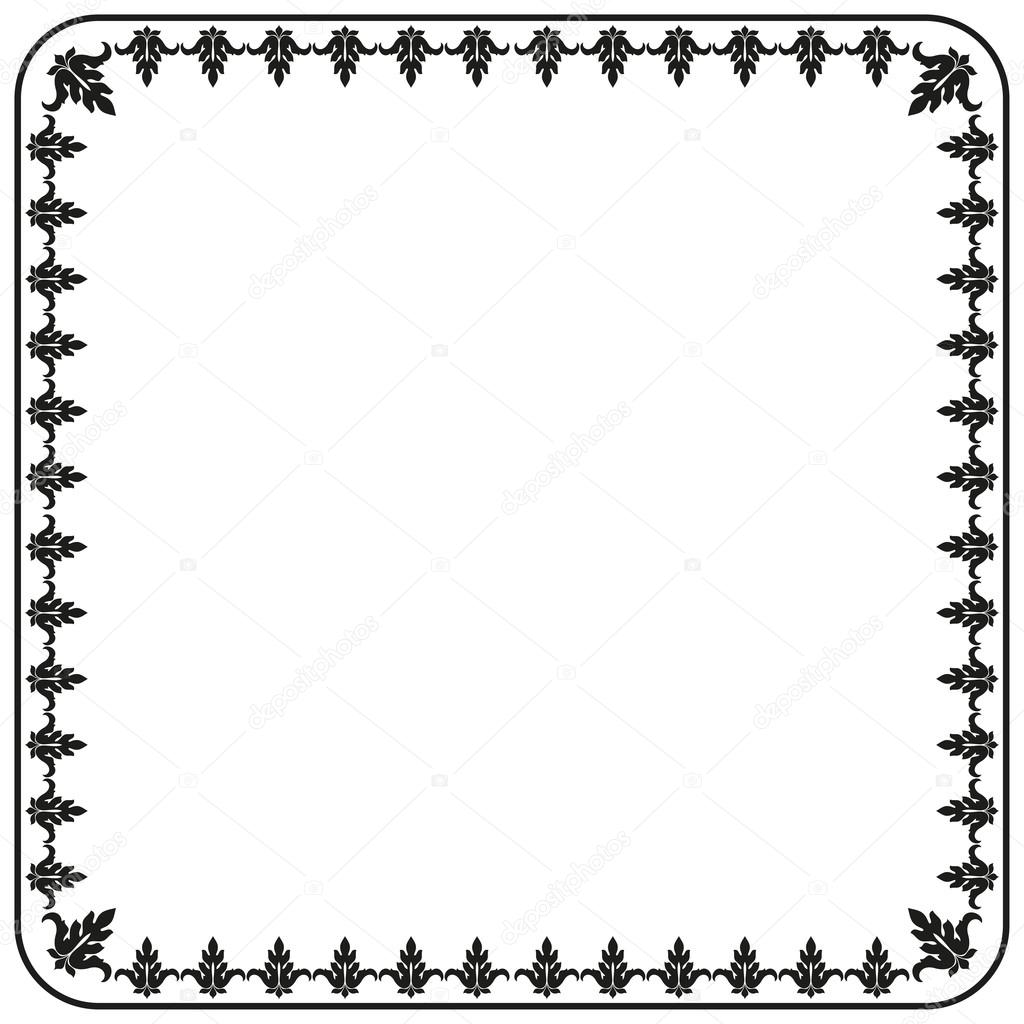 Border Gothic Ornament Decorative Vintage Elements For Design Vector Image Stock