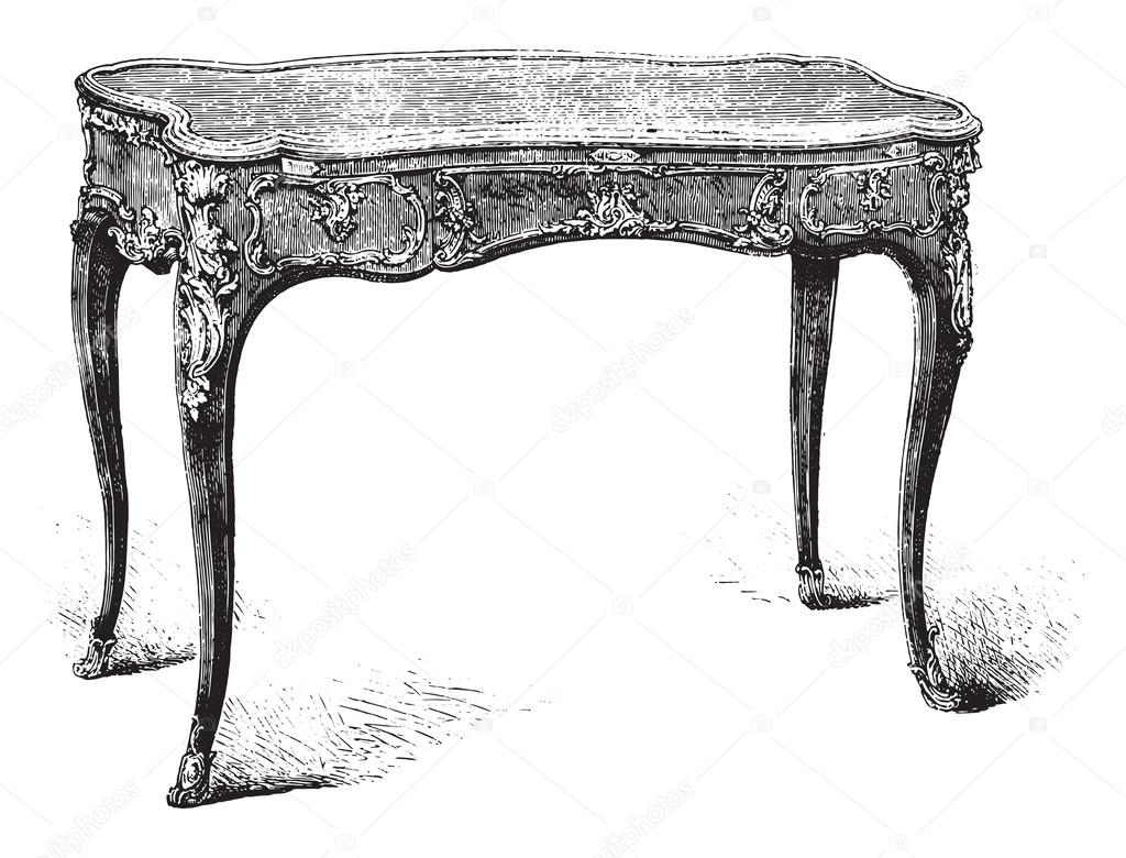 Work table louis xv style mr double collection vintage for Html table style
