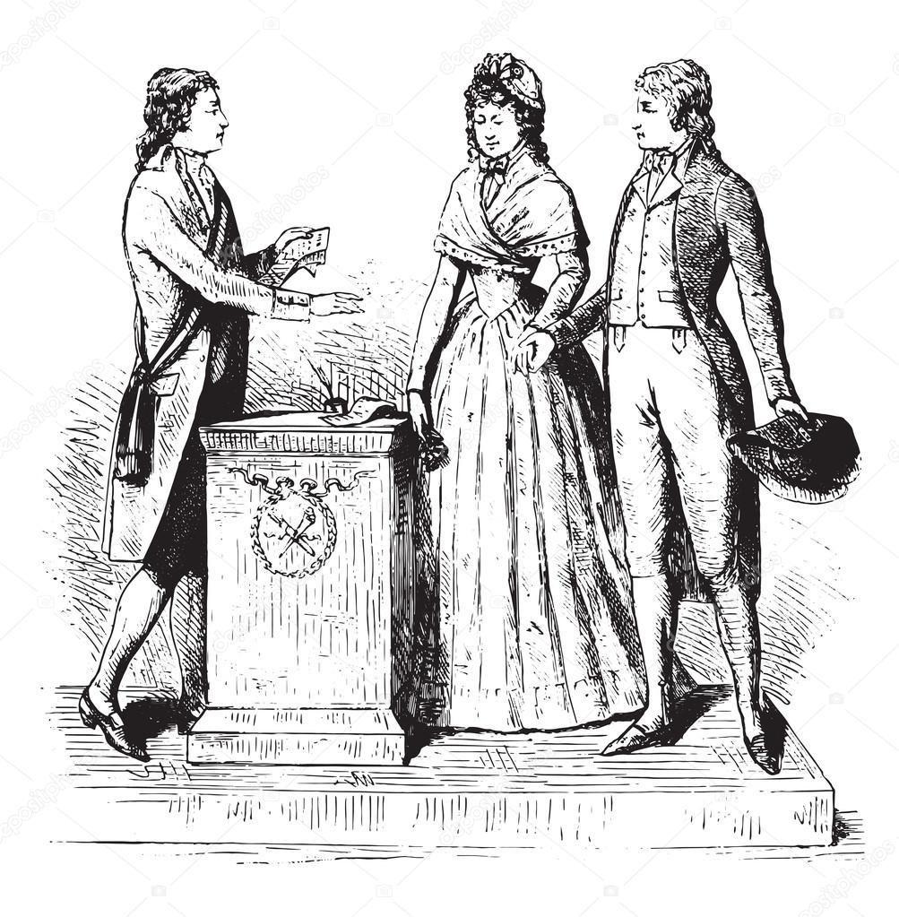 Trajes de 1793 un matrimonio en un sello de tiempo for El tiempo en st hilari sacalm