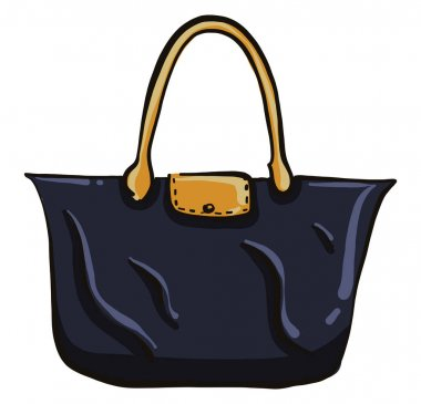 Big blue bag, illustration, vector on a white background. icon