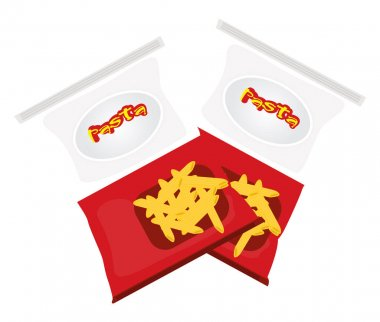Chips snack, illustration, vector on a white background. icon