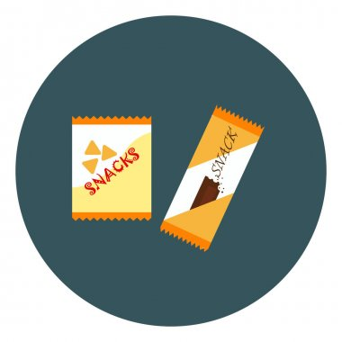 Quick snacks, illustration, vector on a white background. icon
