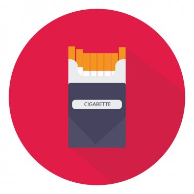Pack of cigarettes, illustration, vector on white background. icon