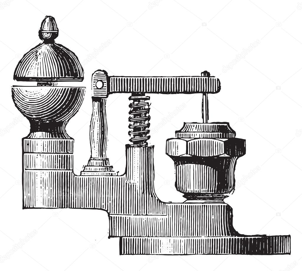 Ordinary whistle fitted on the base of the valve, vintage