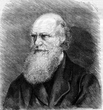 Charles Darwin died in April of 1882 after a photograph, vintage