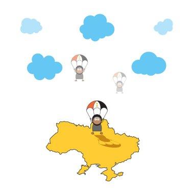 Cartoon Syrian refugees