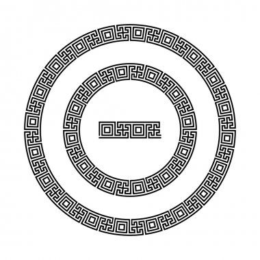 Swastika round pattern