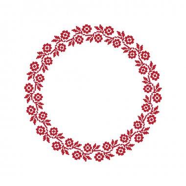Ukrainian national round pattern