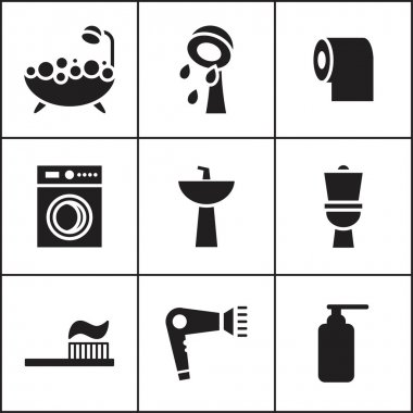 bathroom, WC, restroom  icon