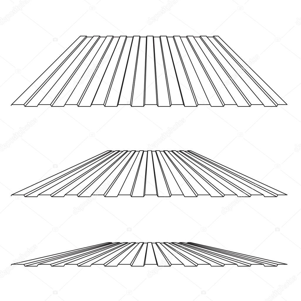 Corrugated Metal Roof Stock Vector 169 Marina Ua 56899305