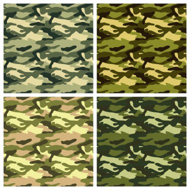 Military clothing camouflage  patterns