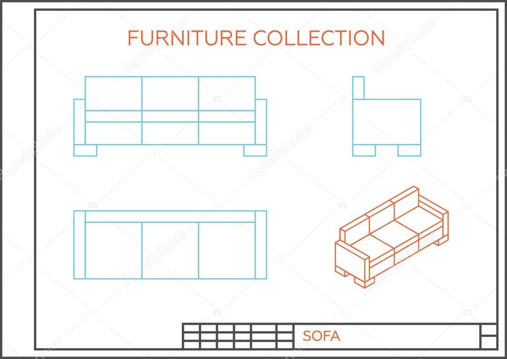 Isometric Icon Of A Sofa Stock Vector C Marina Ua 81682984