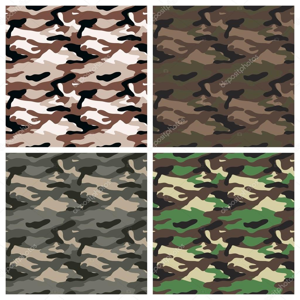 Military clothing camouflage patterns — Stock Vector