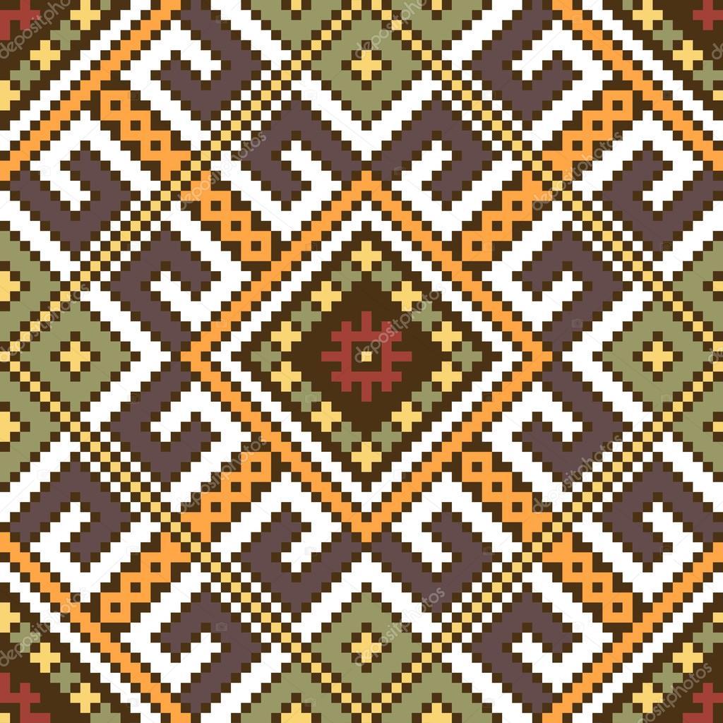 Ethnic ukrainian seamless ornament