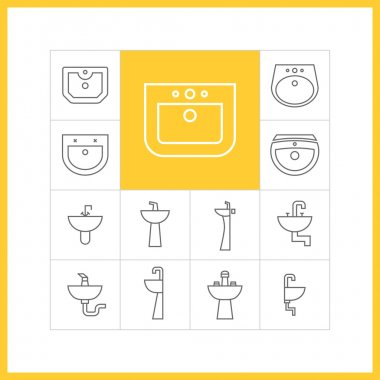 Sink linear icons