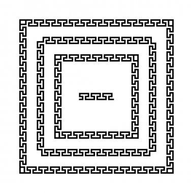 Ancient seamless square Greek  frames