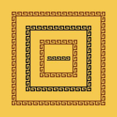 Ancient seamless square Greek  frames