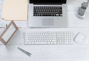 Organized desktop setup for efficiency