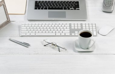 Organized desktop setup for work efficiency