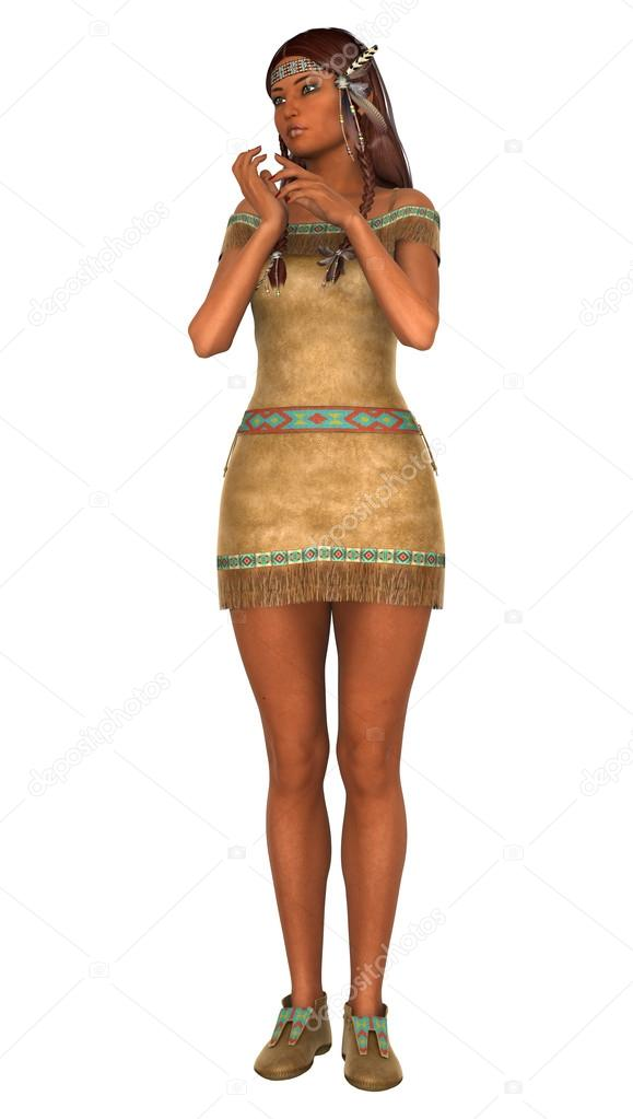 Foto desnuda de mujer nativa americana